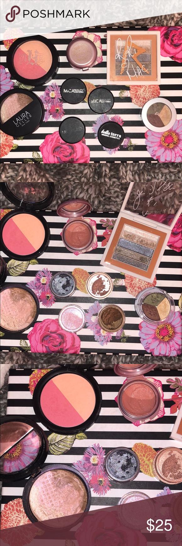 Name brand makeup bundle Kat Von D shade + light blush Pür
