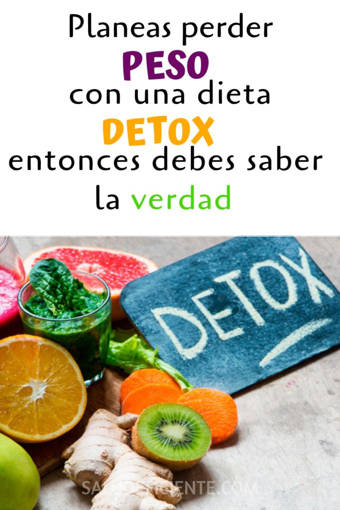 la verdad de las dietas detox