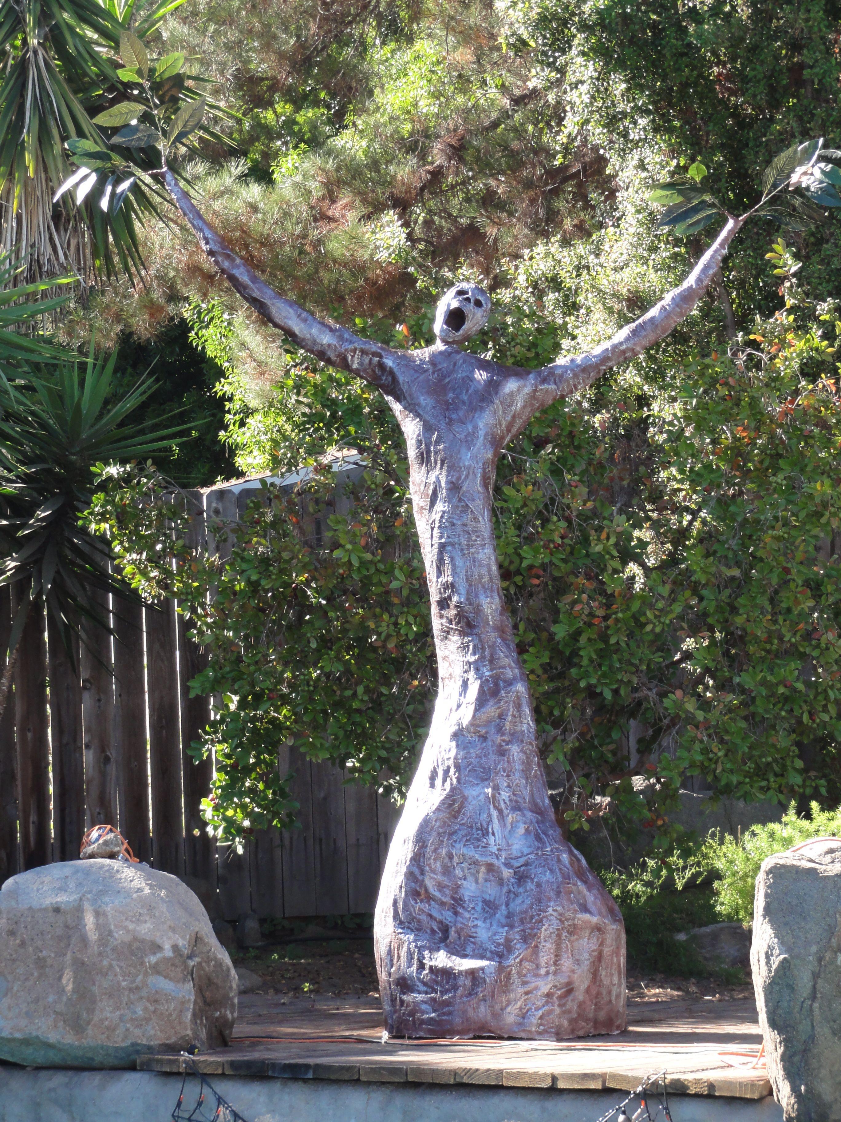 Our Halloween Tree ) Halloween trees, Garden sculpture