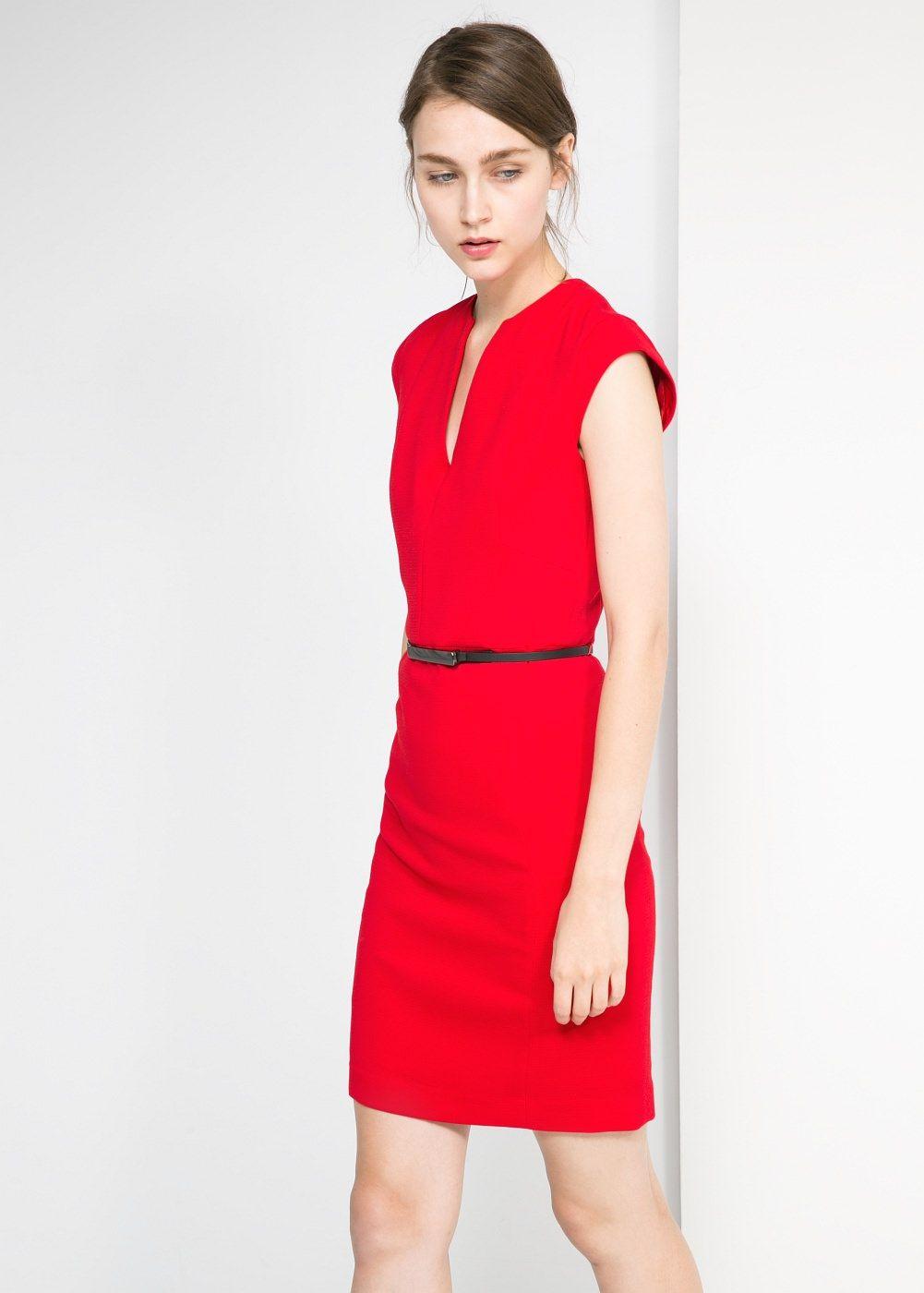 Vestido Cinto Fino Mulher Fashion Fashion Dresses