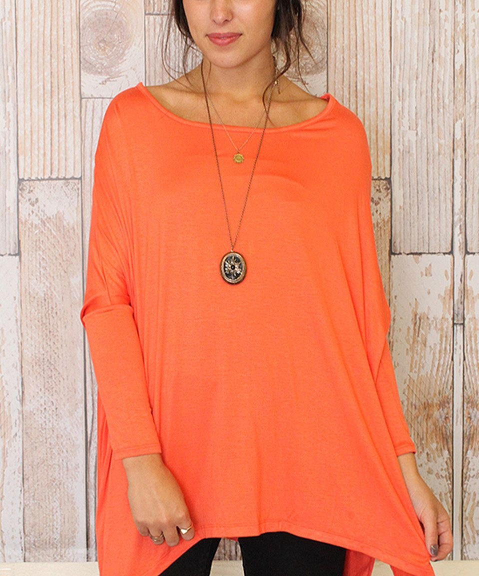 Another great find on #zulily! Caralase Coral Boatneck Sidetail Tunic by Caralase #zulilyfinds