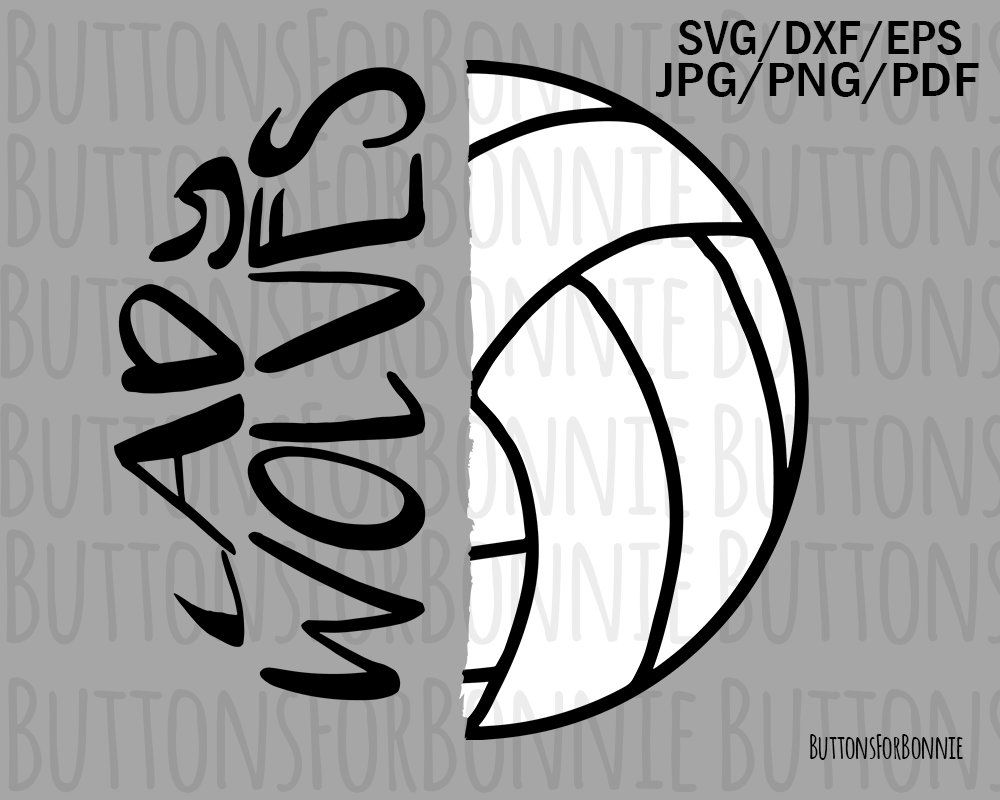 d45802dbb Lady Wolves volleyball , cut file, sport svg, mascot svg, volleyball shirt  svg, school, Lady Wolves shirt, volleyball mom svg, cricut, by  ButtonsForBonnie ...