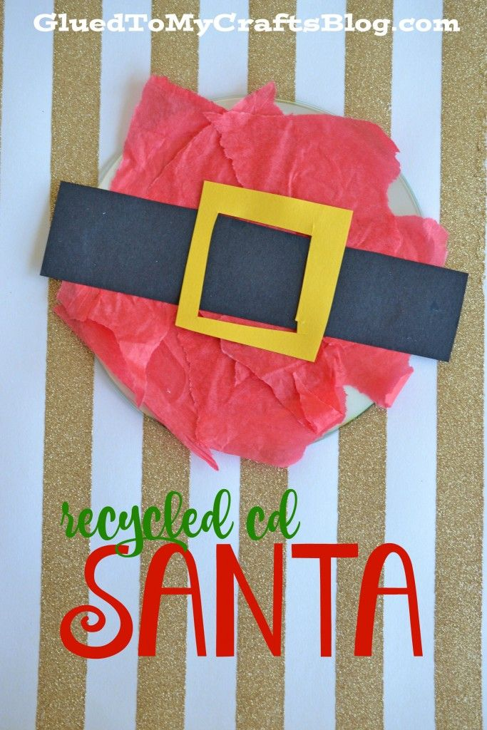 Recycled CD Ornaments - Kid Craft | Pinterest | Santa, Craft and ...