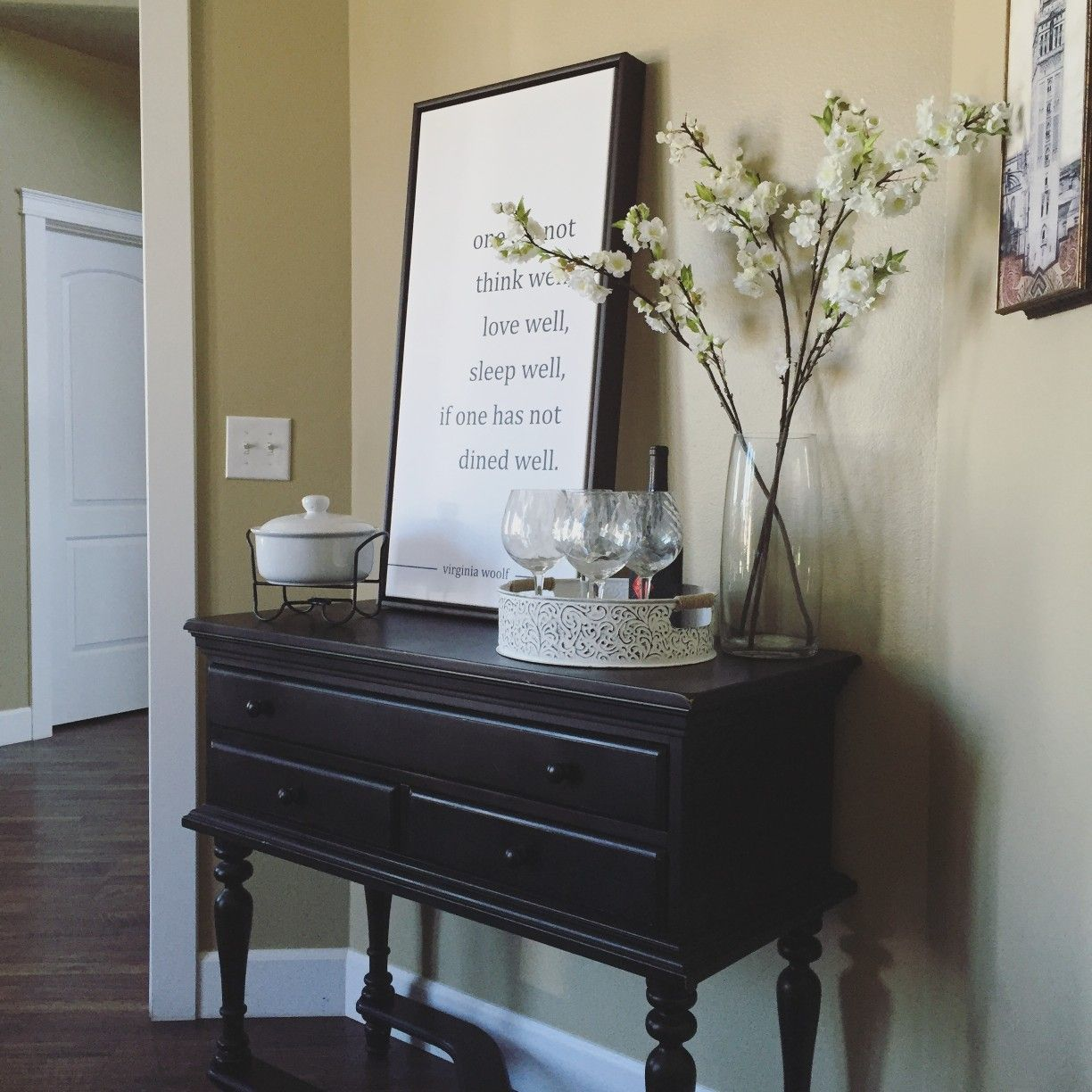 Dining room console table decor | Dining room console ...