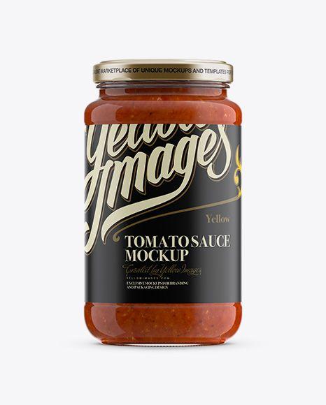 Tomato Sauce Jar Mockup (Preview)