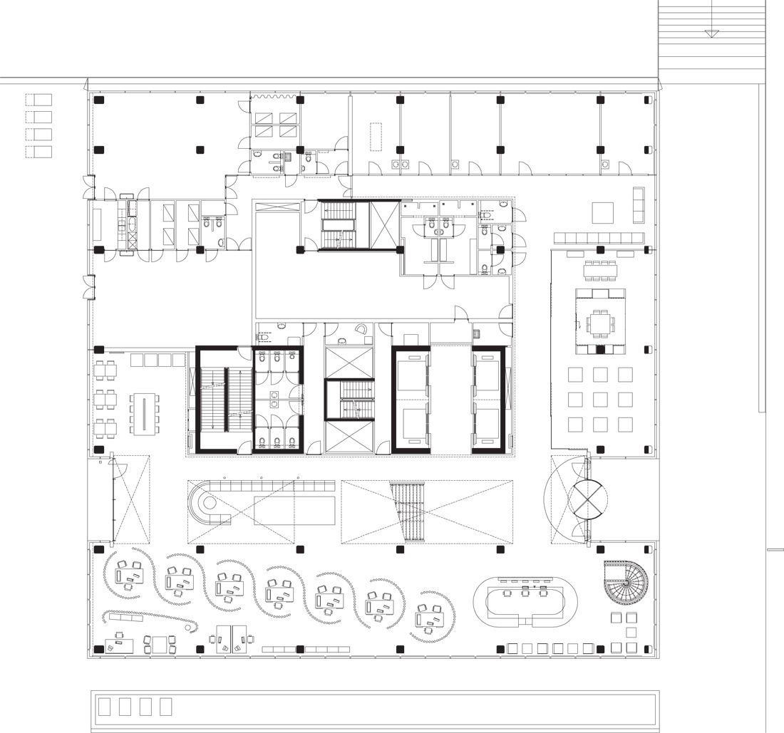 Office building plan google office plan pinterest Office building floor plan layout