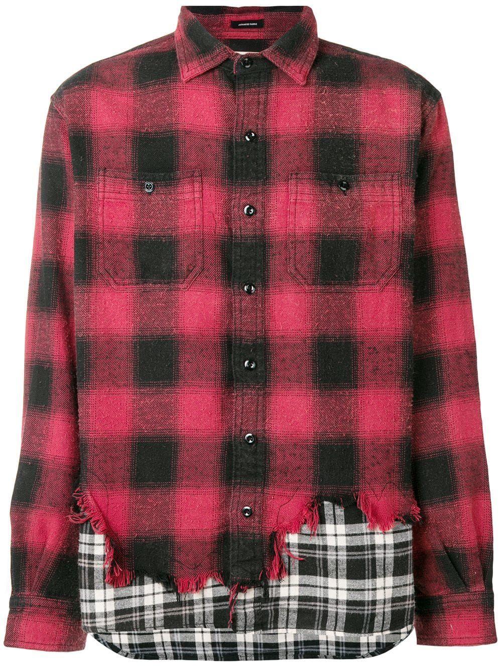 d1387ff443c R13 состаренная рубашка с принтом