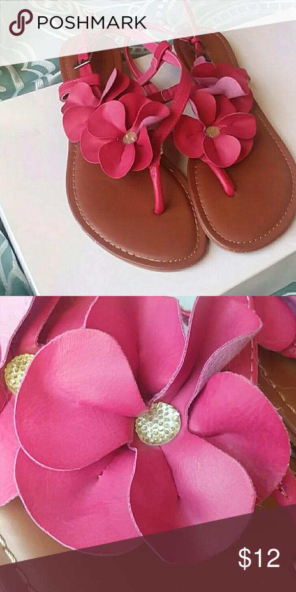 Charming charlie pink flower sandals like new pink sandals dark charming charlie pink flower sandals like new mightylinksfo Gallery