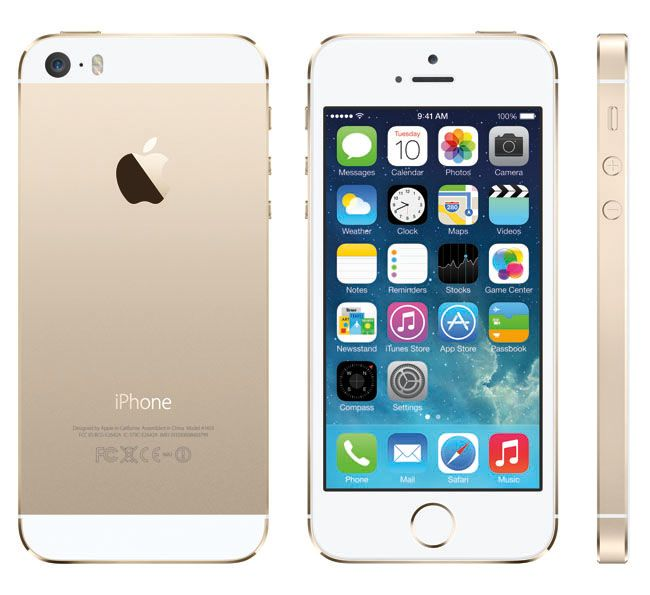 The new iPhone 5S - gold  MINE!  LOVE IT!  CHAMPAGNE