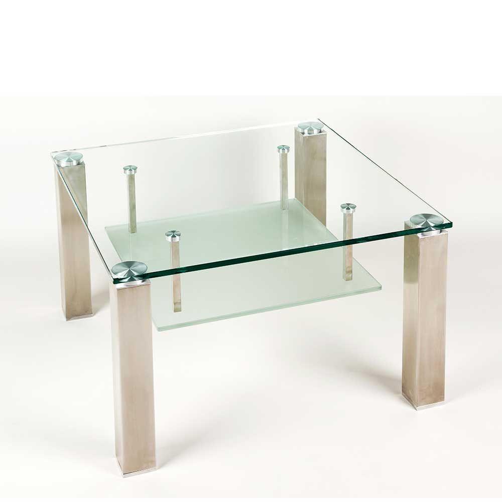 Wohnzimmertisch Mit Glasplatte Rollbar Jetzt Bestellen Unter Moebelladendirekt