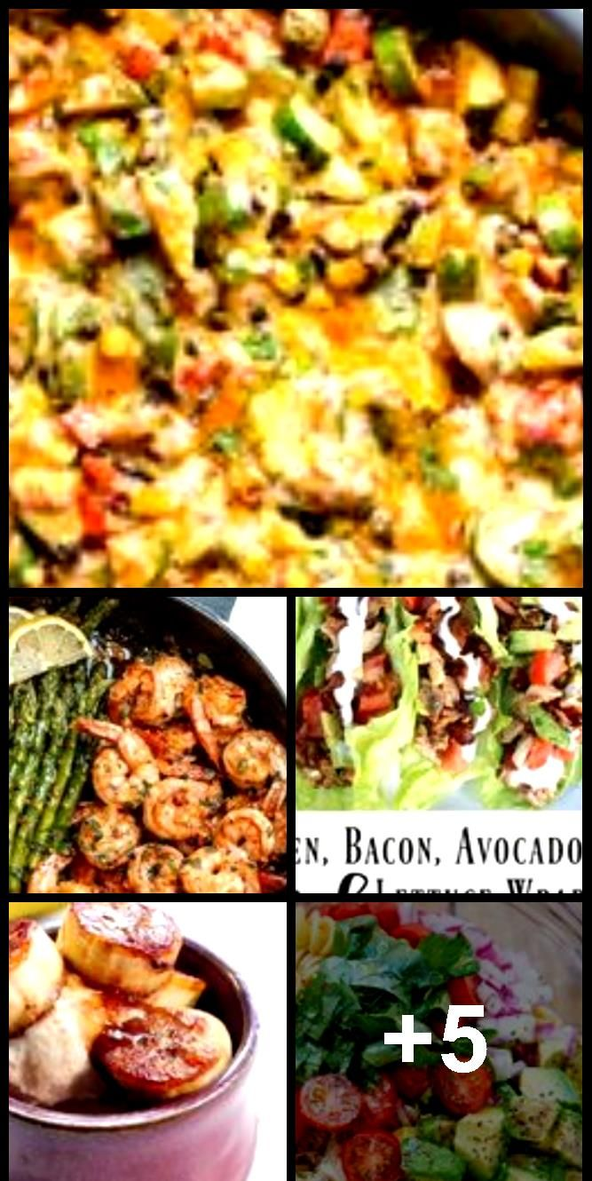 Low carb chicken and zucchini recipe cooked in one skillet with black beans cor Low carb chicken and zucchini recipe cooked in one skillet with black beans cor