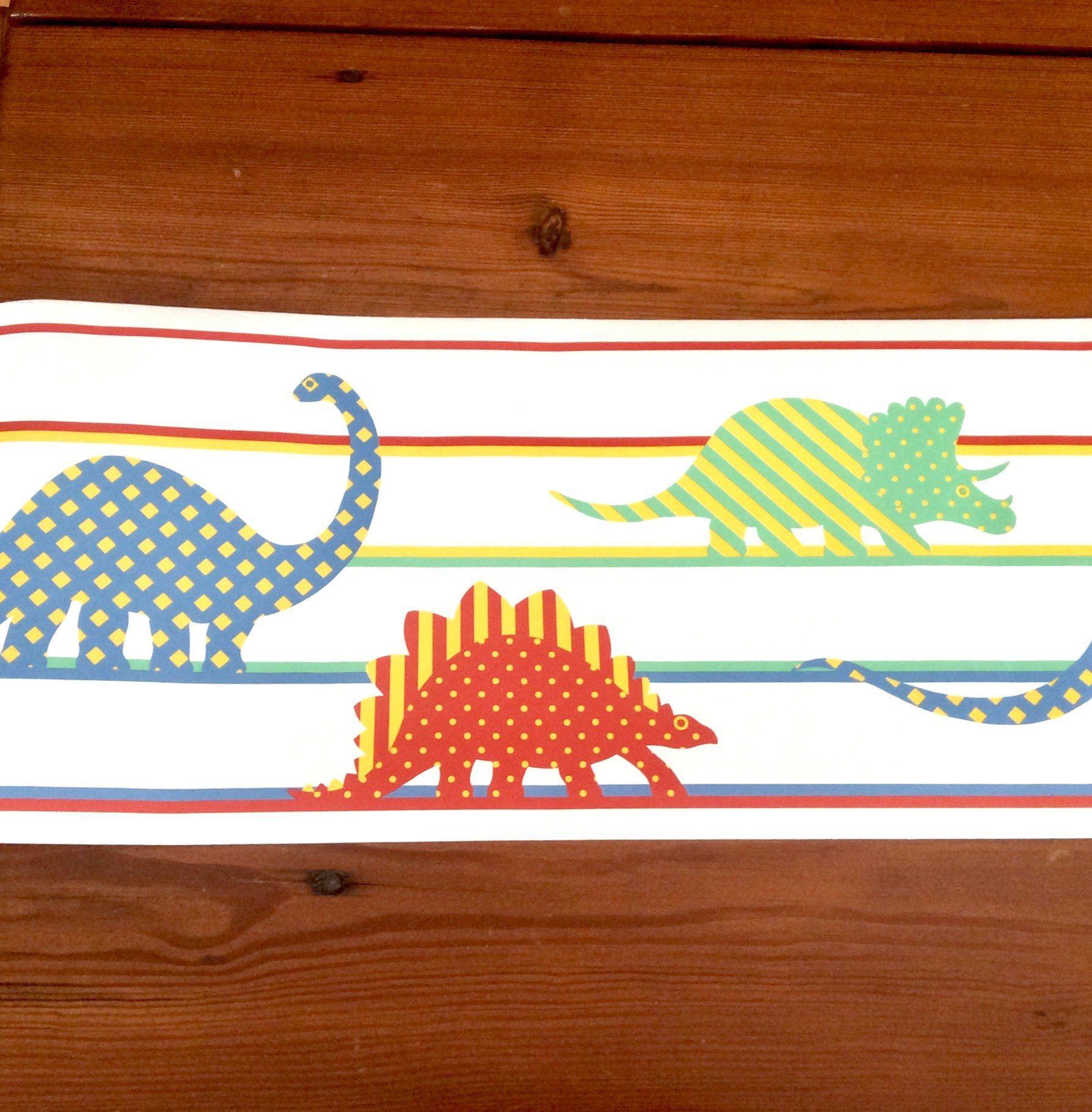 Dinosaur Wallpaper Border, 4 Rolls, Nursery Decor