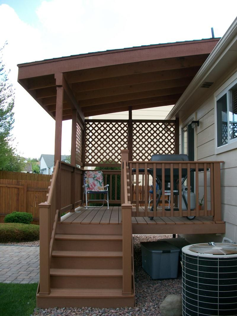 Icon of deck cover ideas garden and patio pinterest for Ideas for deck designs