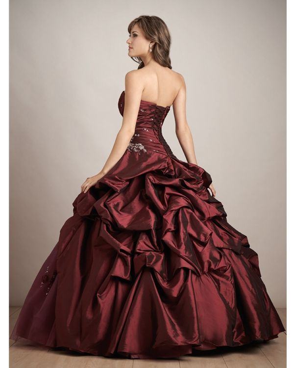 Wine Colored Dress Color Stripless Quinceanera Dresses Online