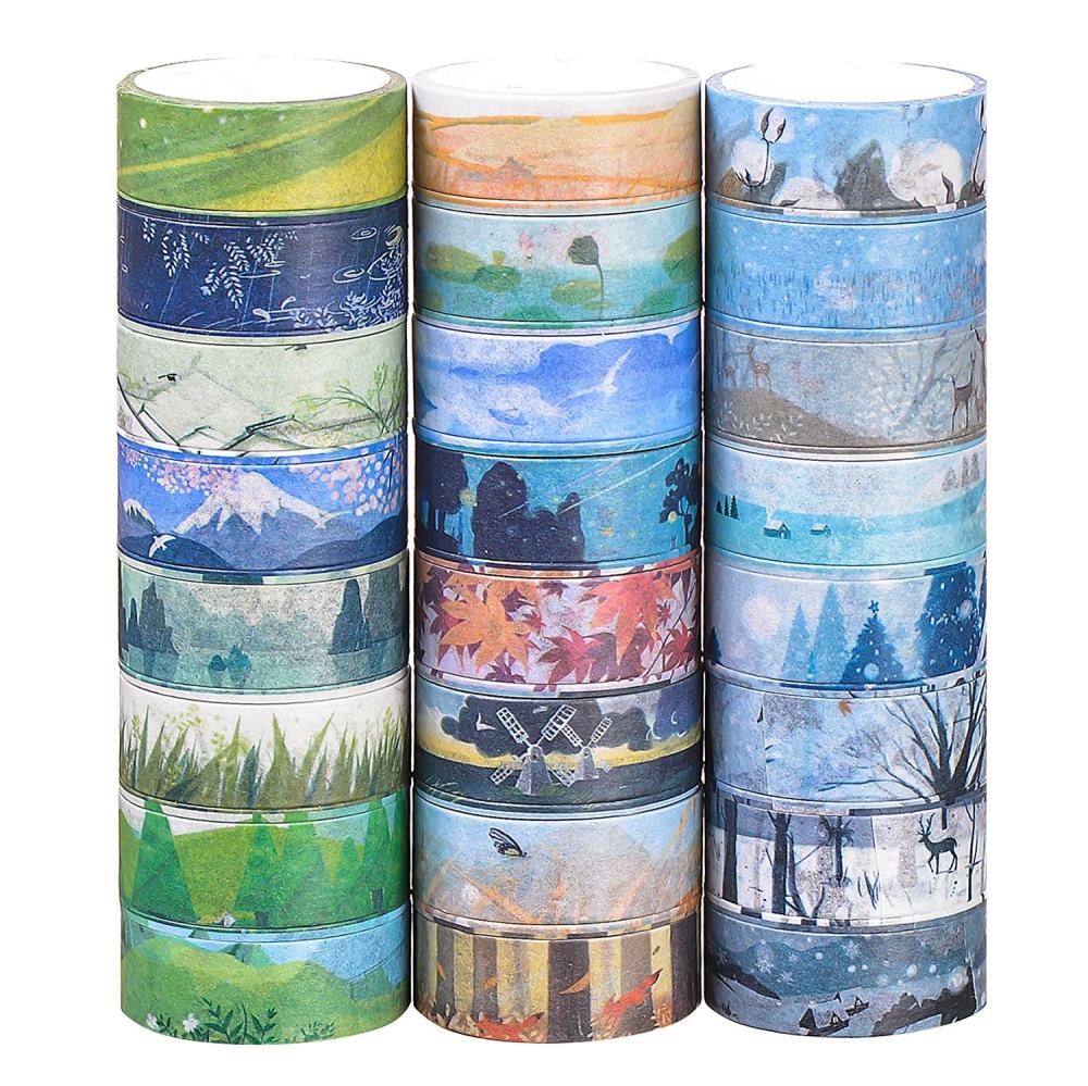 Washi Masking Tape Set von 24, dekorative Masking Tape Collection,verschiedene j | eBay
