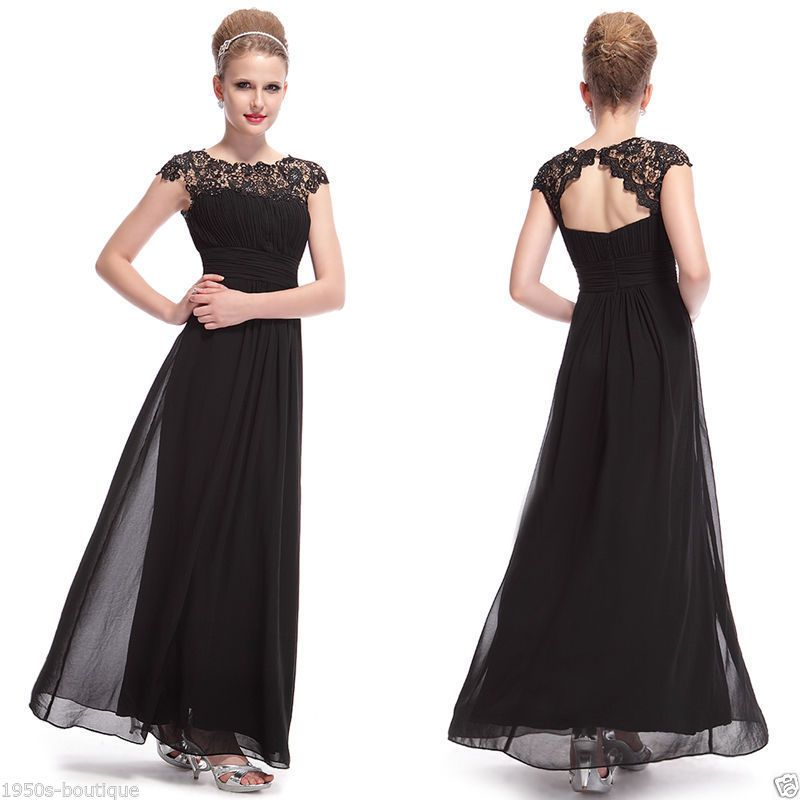 Long Maxi Evening Bridesmaid Formal Party Prom Dress Gown Size 8 18