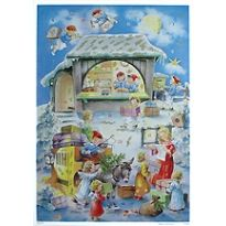 Santa with Children Vintage Style Advent Calendar