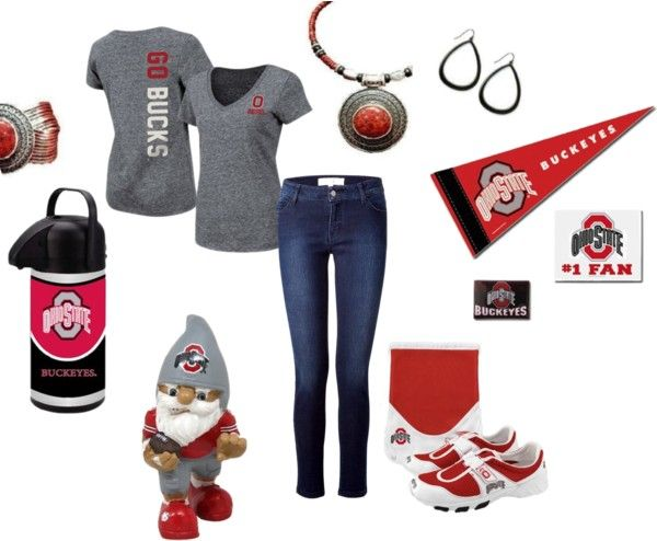 """Ohio State Fashionista"" by crystal-kidd on Polyvore"