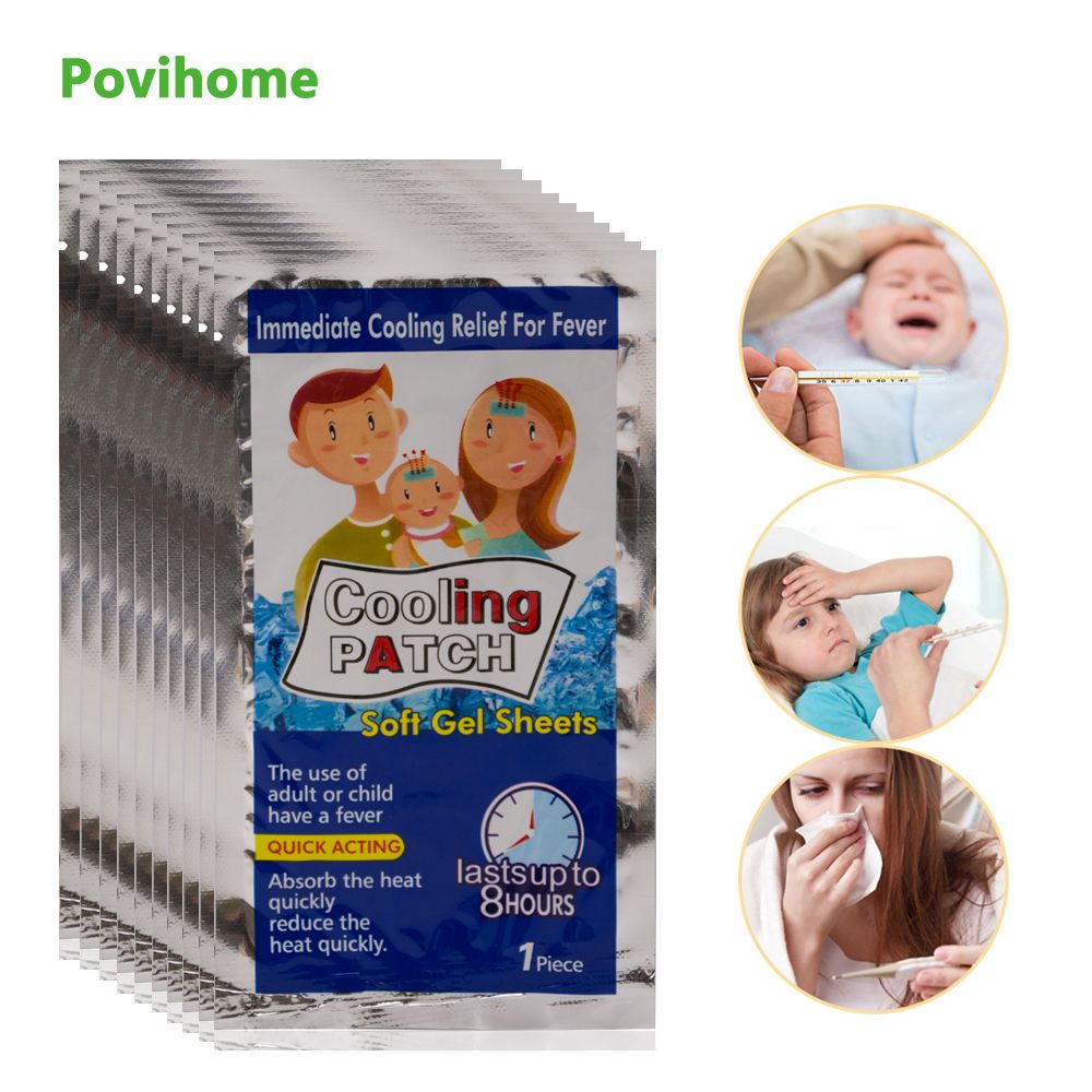 20bags Cooling Patches Baby Fever Down Medical Plaster Migraine