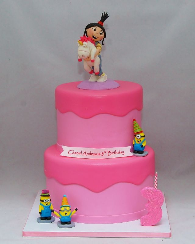 Despicable Me With Agnes Cake With Images Despicable Me Cake