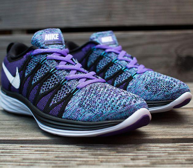 Nike Womens Flyknit Lunar 2 Purple Haze Black