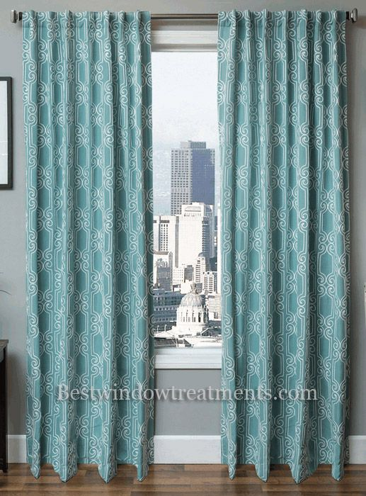 booker linen curtain embroidered chain stitch with blackout lining option