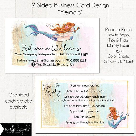 Lipgloss business card makeup artist business card mermaid custom lipgloss business card makeup artist business card mermaid colourmoves