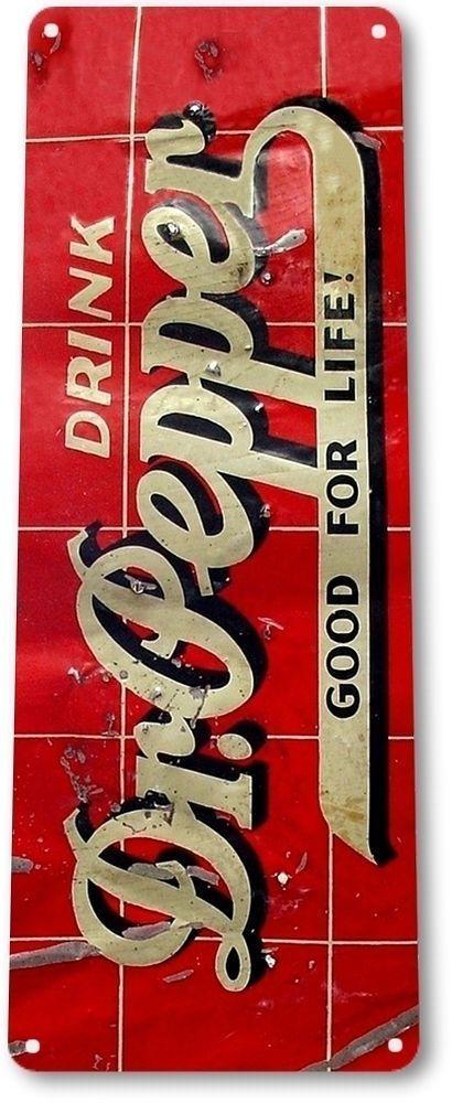 Drink Dr. Pepper Tin Sign Man Cave Garage Home Decor Woman #DrPepper