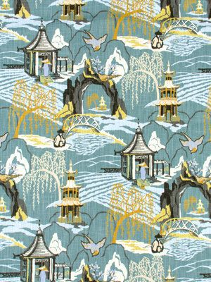 Navy Blue Toile Fabric Asian Fabric Blue By PopDecorFabrics | Fabric |  Pinterest | Toile, Upholstery Fabrics And Upholstery Part 22