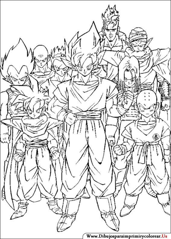 Dibujos De Dragon Ball Z Para Imprimir Y Colorear Dibujos De Dragon