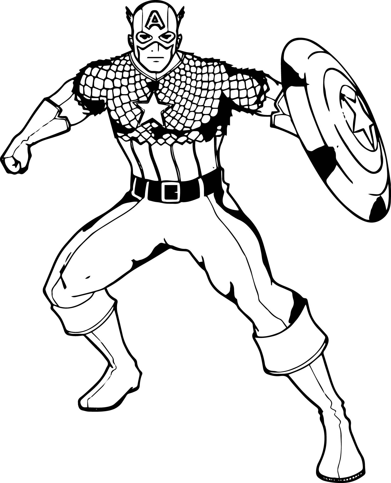 Nice Captain America Waiting Coloring Pages