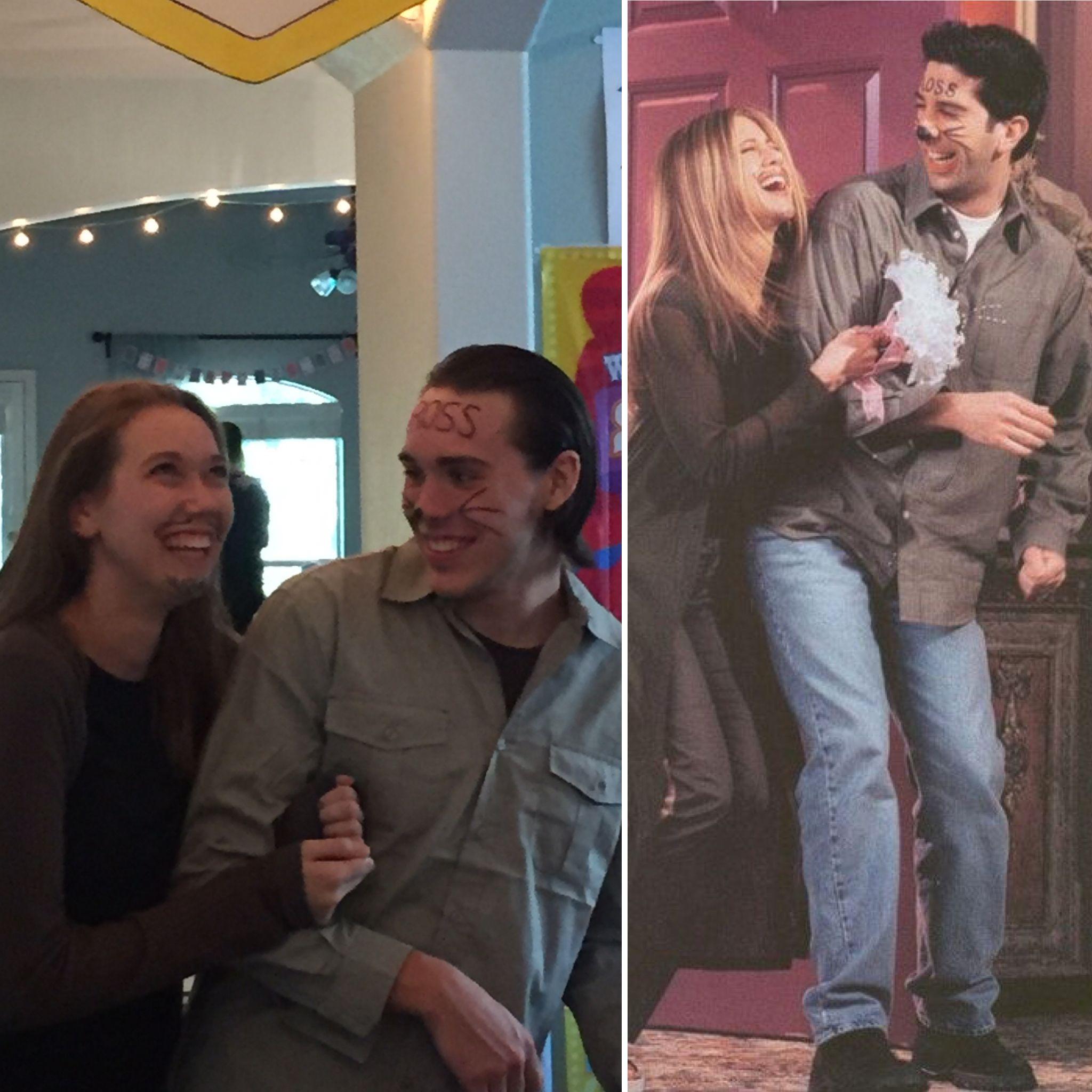 Ross and rachel drunk in vegas couples costume halloween