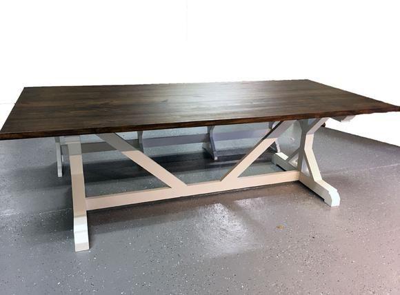 Farmhouse Table Seats 8 7 Foot Farmhouse Table Custom Farm Table