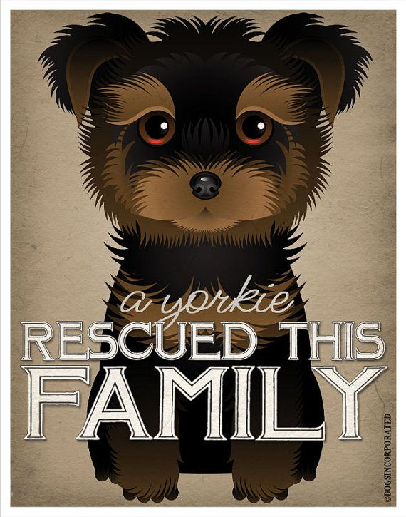 A+Yorkie+Rescued+This+Family+11x14++Custom+Dog+by+DogsIncorporated,+