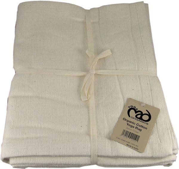 Yogatæppe der er lavet af 100% økologisk håndvævet og ubleget bomuld