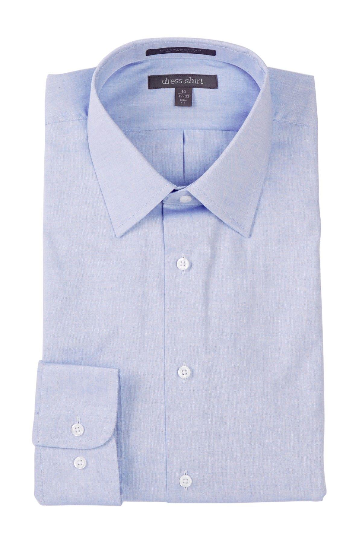 Trim Fit Pinpoint Non-Iron Dress Shirt