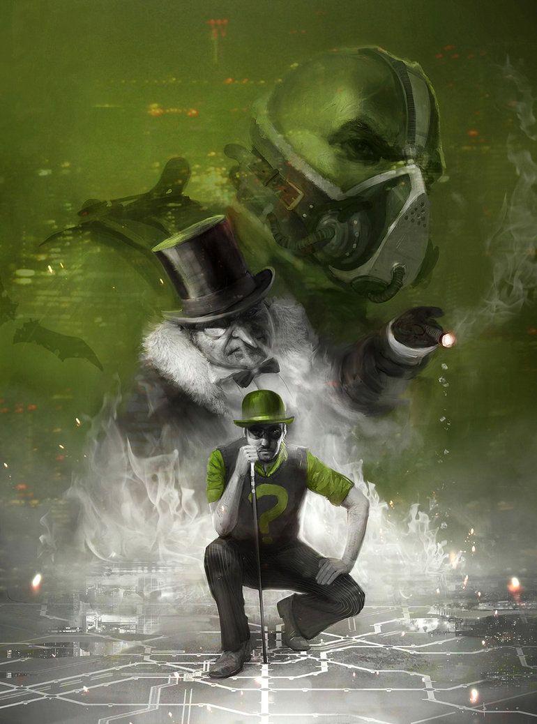 Riddler, Penguin and Bane by boc0 Riddler, Comic book