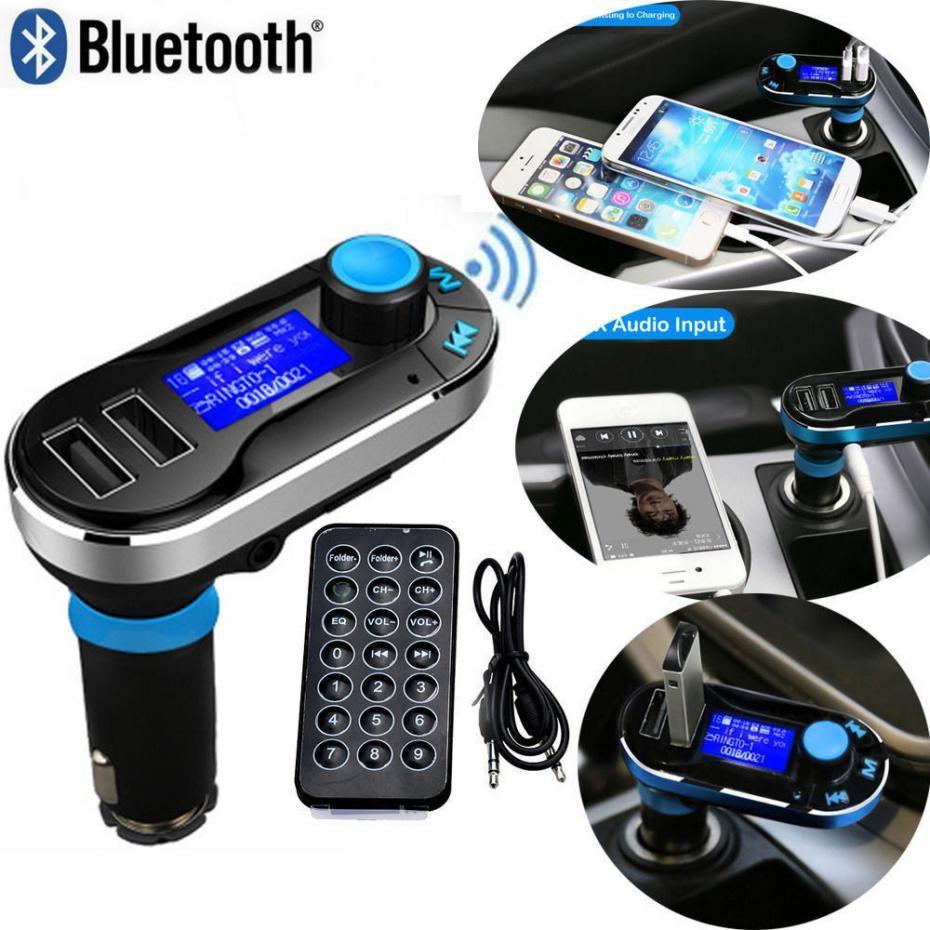 Bluetooth Fm Transmitter Mp3 Car Kit Player Dual Usb Charger
