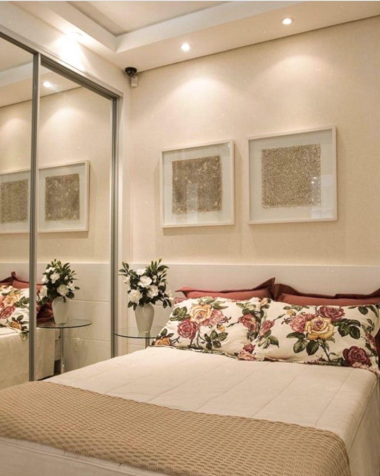 Simples E Bonito Recamaras Pinterest Quarto De Casal  ~ Quarto Casal Simples E Barato E Apartamento Quarto E Sala