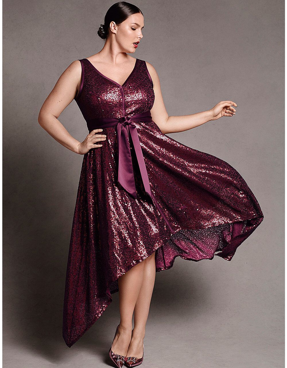 Lane Bryant Extraordinary Outfits For Curvy Girls Sequin Dress
