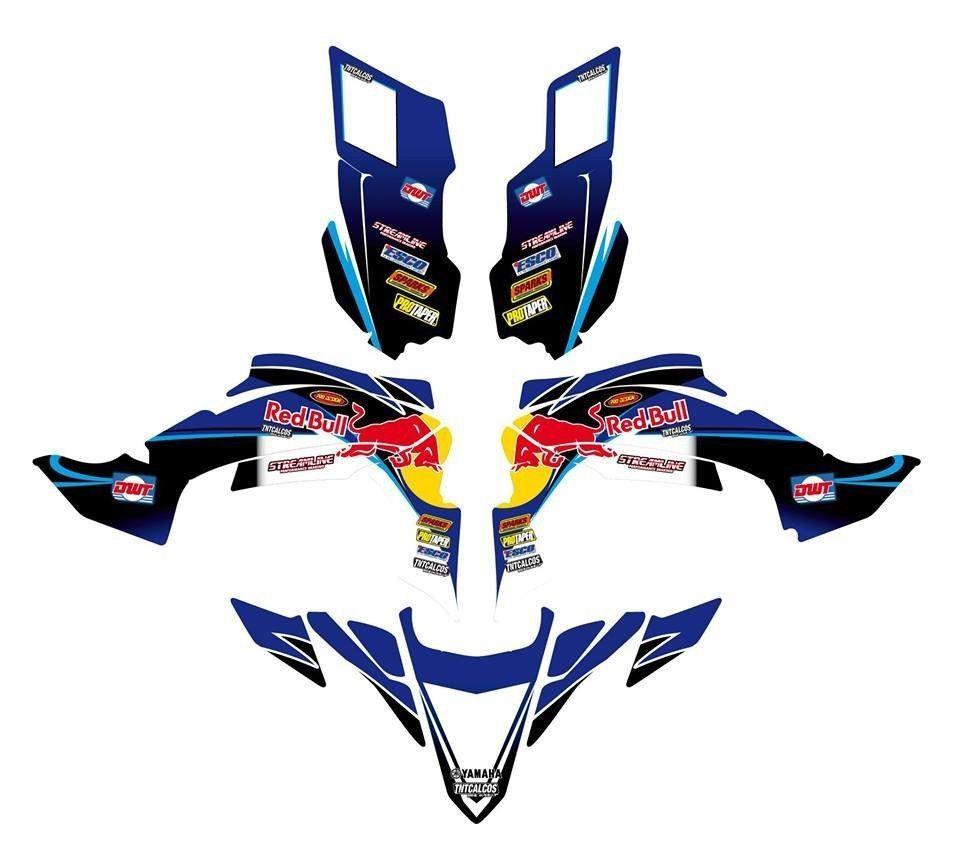 YAMAHA YFZ RYFZR Custom Graphics Kit Decalsexcellent - Motorcycle decal graphics