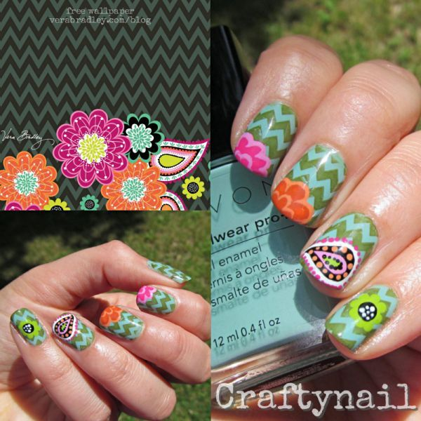Vera Bradley Nails by Craftynail