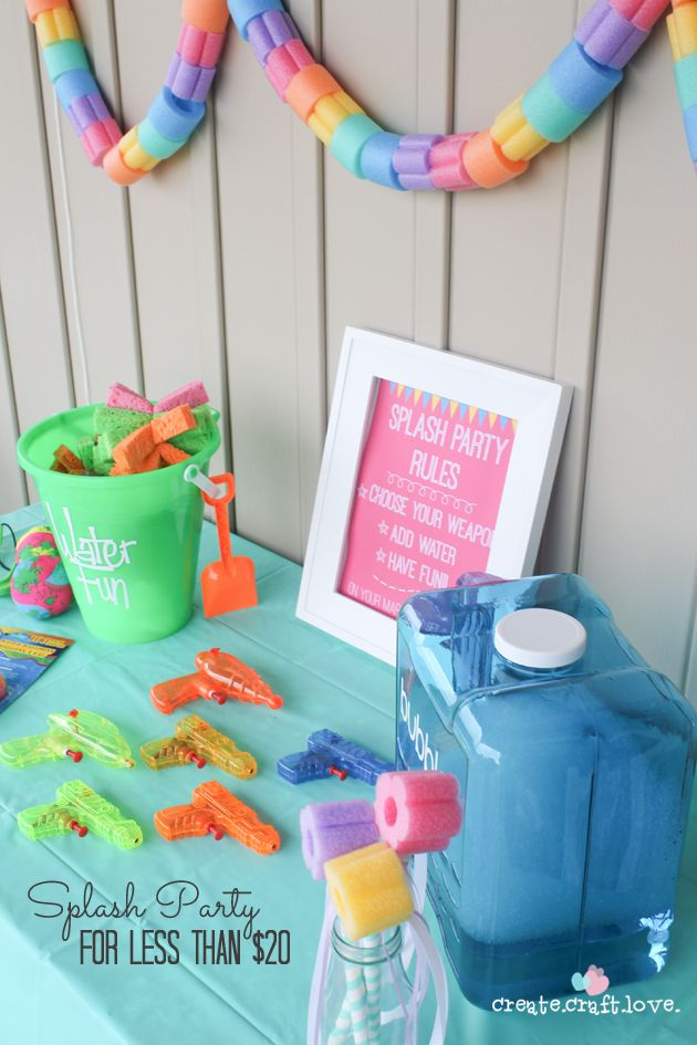 Pool Party Activities Splash Party For Under $20  Splash Party Birthdays And Summer