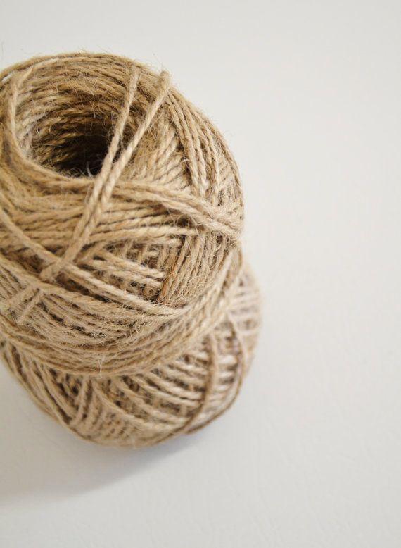 Jute Twine in Camel Brown / burlap rustic string / by