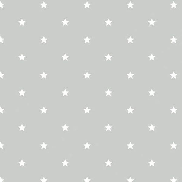 Papel Pintado Estrellas Gris
