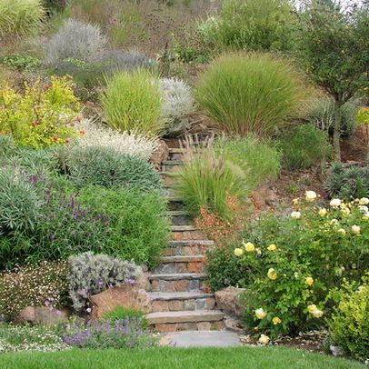 Landscape On A Hill Design Ideas Pictures Remodel And Decor Steep Gardens Steep Hill Landscaping Steep Hillside Landscaping