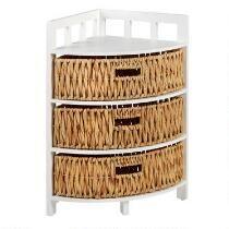 3 Basket Drawer 3 Tier Corner Storage Unit Corner Storage Unit Corner Storage Wooden Storage