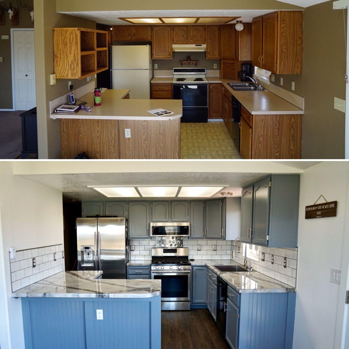Diy Complete Kitchen Makeover In 2020 Kitchen Remodel Design Diy Kitchen Remodel Beadboard Kitchen
