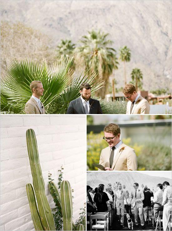 gay wedding at Horizon Hotel Palm Springs