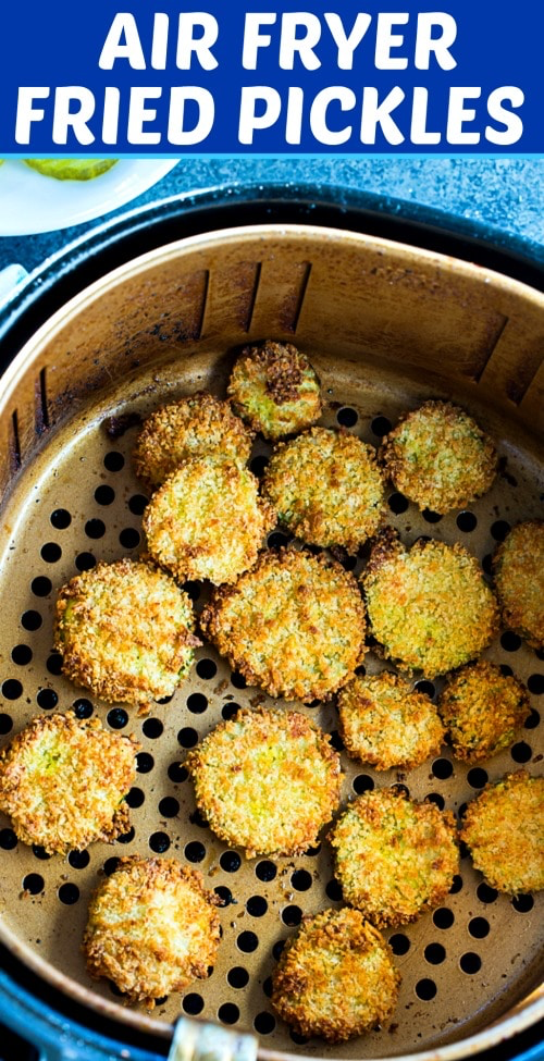 Air Fryer Fried Pickles - Skinny Southern Recipes